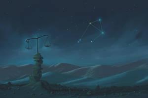 Libra Constellation Painting (Zodiac Set) by ShootingStarLogBook