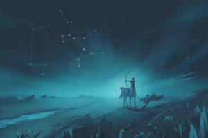 Sagittarius Constellation Painting (Zodiac Set) by ShootingStarLogBook