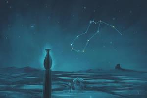 Aquarius Constellation Painting (Zodiac Set) by ShootingStarLogBook