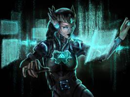 Zelda cyborg by Mesrile