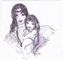 Lydia and Desmond sketch by RaShan
