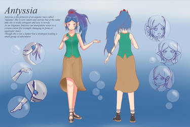 [OC] Reference Sheet - Antyssia by Sikyll