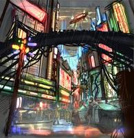 Downtown_roughsketch by PenName-Kazeno