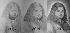 Hugo Reyes Pencil Drawings by ArtDitional92