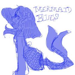 mermaid blues by cherryblu-e
