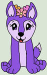 webkinz purple floral fox drawing by lpscat123
