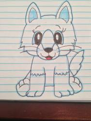 webkinz arctic fox by lpscat123