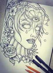 Tattoo Sketch by Loodlez