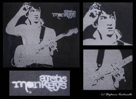 Silk Painting Alex Turner by xstephychanx