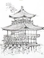 SKETCH#21 : Kinkaku-ji by Adela1015