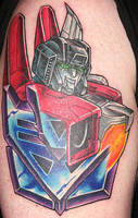 transformers starscream tattoo by optimuspint