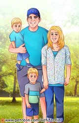 Summer Outdoor Family Portrait for Our friends by Catifornia