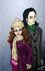 Loki and Darcy - Baby It's Cold Outside by quirkypaynesgrey