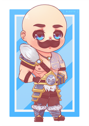 [+speedpaint] LoL: Braum (chibi ver.) by ALECT0