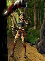 Samurai GAL - BATTLE by dumbguyjoe