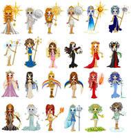 Greek Goddesses by LoveSacge