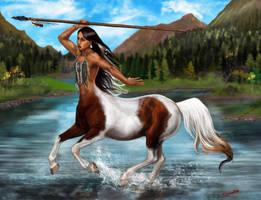 North American Indian Centaur by SYoshiko