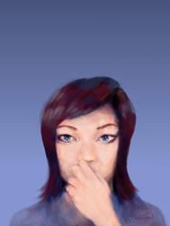 :: portrait :: thinking by tristanrocks