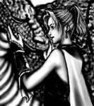 Oekaki - Krile and her dragon by djmidori