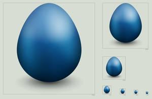 Twitter egg icon by hbielen
