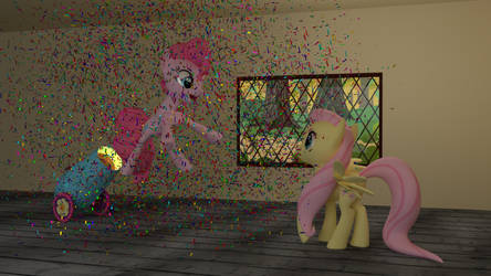 Pinkie Pie Exploding Surprise Cannon of Fun! by FafnerDeUrsine