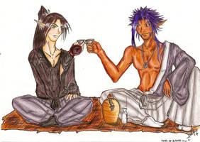 Akuma and Joji painted. by Fukai