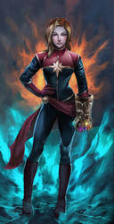 Captain Marvel by ACWart