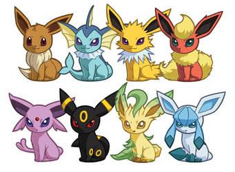Pokemon Eeveelution Sets 1-2 by cosplayscramble