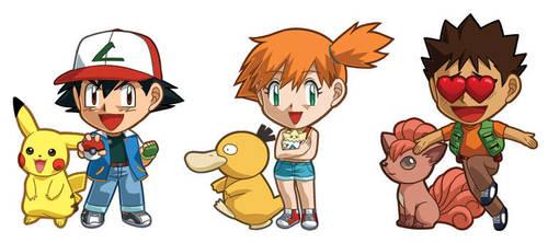 Pokemon Ash, Misty, Brock Sets by cosplayscramble