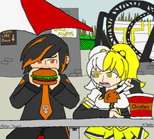 Alton Towers - Dinner Chat by mitchika2