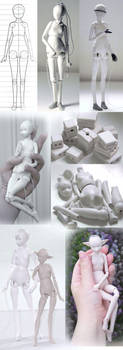 Progress of a doll by ladymeow