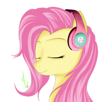 Fluttershy's Headphones by Winterrrr