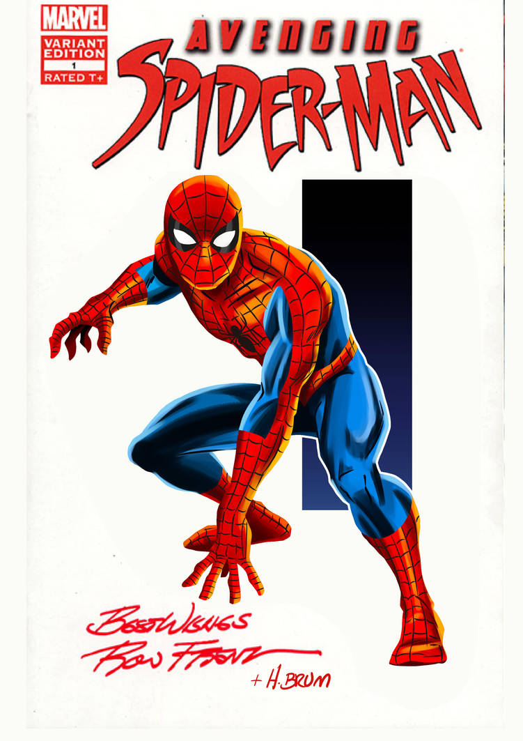 Ron Frenz Spidey - Color by hqbrum-art