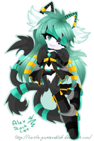 .: collab - lory black the cat :. by Lumi-Art