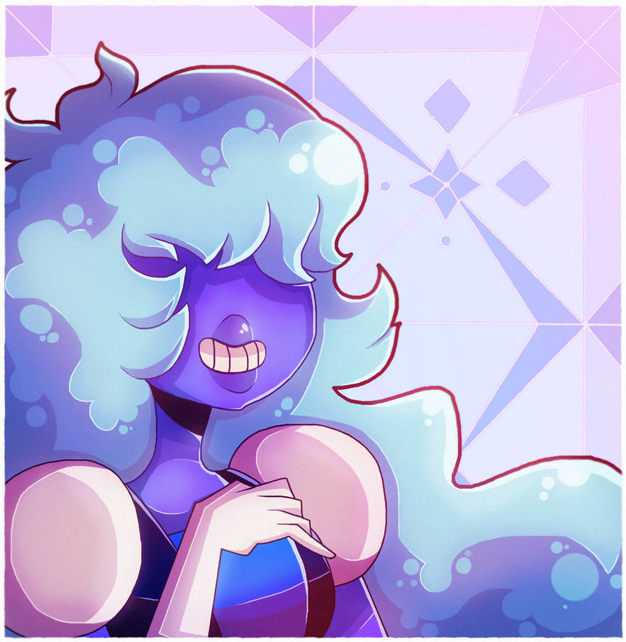 who loves this piece of blue alien rock..........who is also massively gay for a red alien rock awesome! and also confirmed to have a one eye!! Art (C) Me Steven Universe (C) CN/RebeccaSugar