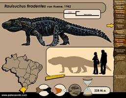 Rauisuchus tiradentes by paleoarqueiro