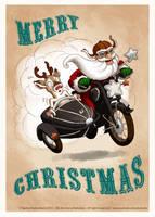 Sidecar-Santa by ladameblanche