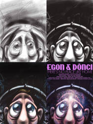 Makingof, of this poster by Nagymarci