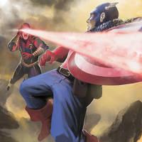AvX Tribute: Captain America vs Cyclops by steven-donegani