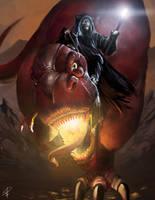 Moon Boy and Devil Dinosaur by steven-donegani