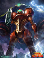 Super Metroid: Samus Aran by steven-donegani