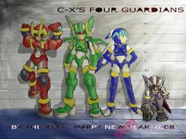 CopyX's Four Guardians by capcomcc