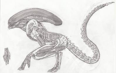 Alien Runner or Dog Alien by TITANOSAUR