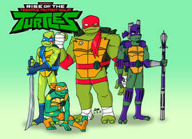 Rise of the TMNT - Brothers by tmntsam