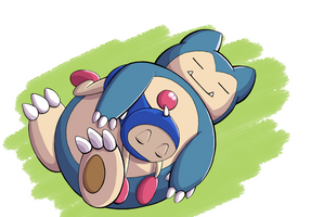 PokeBom Blue Version by Katzii-Yataki