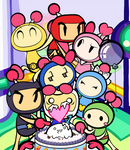 Super Bomberman R one-year anniversary by Katzii-Yataki