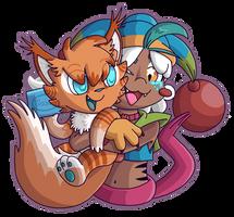 Sneezy Hugs by Katzii-Yataki