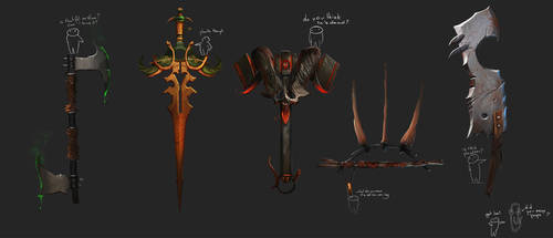Fantasy weapons 1 by Exphrasis