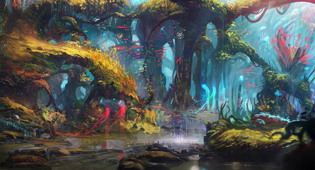The Whispering Forest by Exphrasis