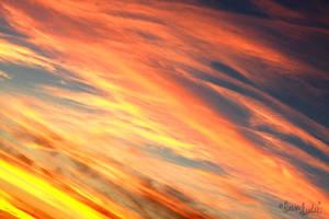 Cirrus Ablaze by FramedByNature